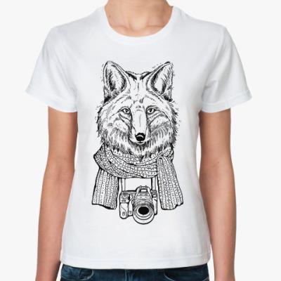 Классическая футболка Лис-фотограф
