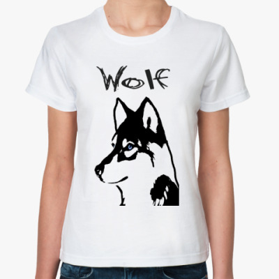 Классическая футболка Wolf by Rose