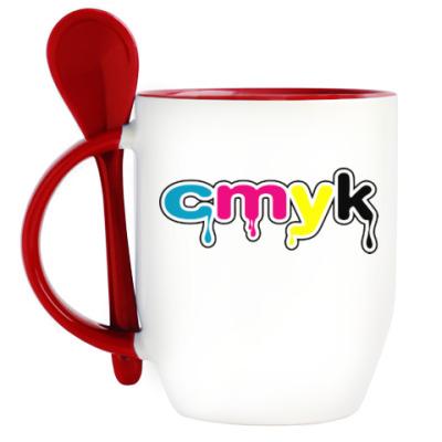 Кружка с ложкой CMYK
