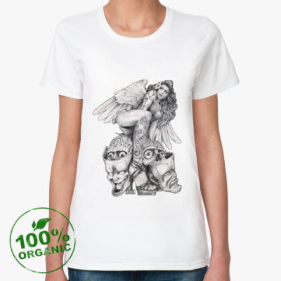 Женская футболка из органик-хлопка Desperate Angel