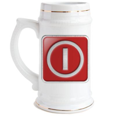 Пивная кружка Logoff