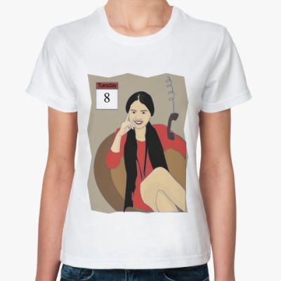 Классическая футболка бизнес-леди