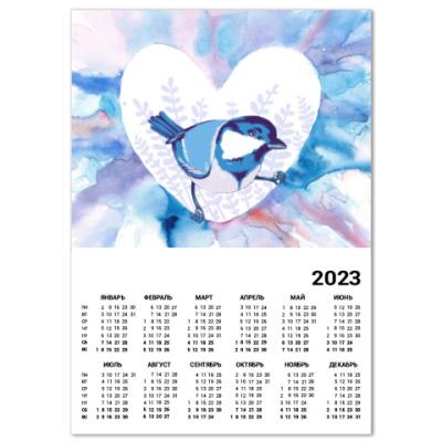Календарь Птичка