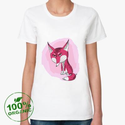 Женская футболка из органик-хлопка 'Лисичка'