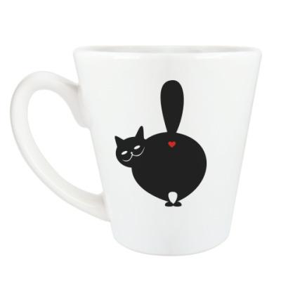 Чашка Латте Влюблённый КОТ