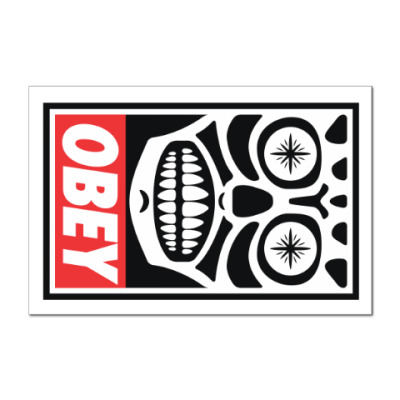 Наклейка (стикер) Obey Mexico