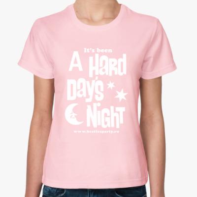 Женская футболка Hard Day's Night (женс. цвет.)
