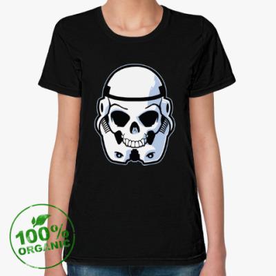Женская футболка из органик-хлопка Trooper Skull