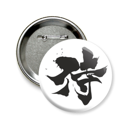 Значок 58мм Samurai (kanji)