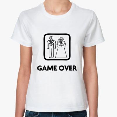 Классическая футболка Game Over