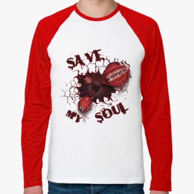Футболка реглан с длинным рукавом Спасите мою душу