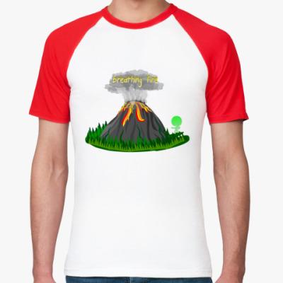 Футболка реглан вулкан