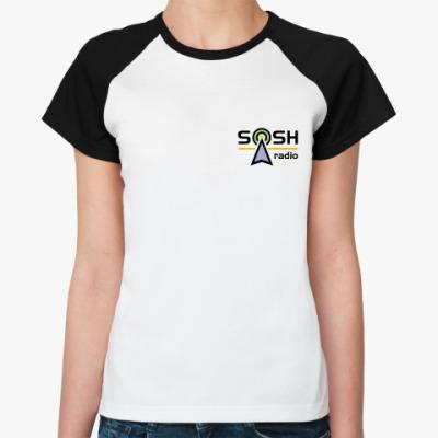 """Женская футболка реглан  жен. """"SOSH Radio"""""""
