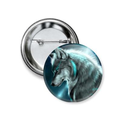 Значок 37мм Ночной Волк