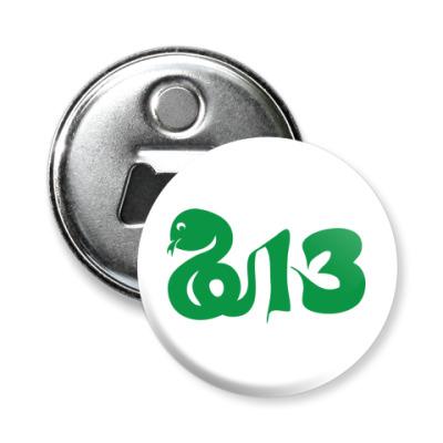 Магнит-открывашка Змея-2013 год