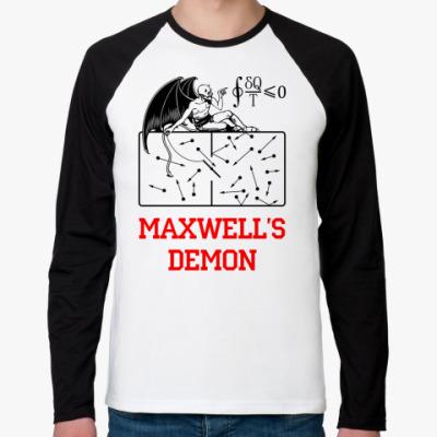 Футболка реглан с длинным рукавом Демон Максвелла