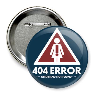 Значок 75мм  75 мм 404 ошибка