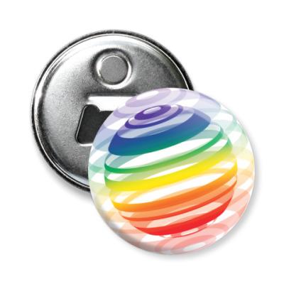 Магнит-открывашка   Разноцветный шар