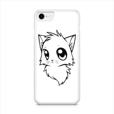 Чехол для iPhone Белый кот