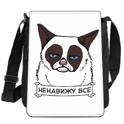 Сумка-планшет Grumpy cat