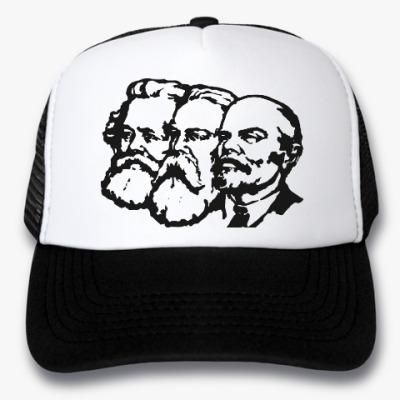 Кепка-тракер Карл Маркс, Энгельс, Ленин