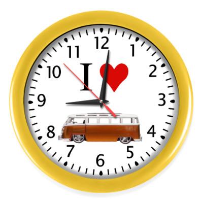 Настенные часы I Love Bus