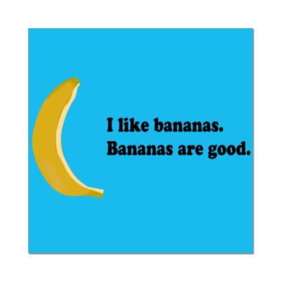 Наклейка (стикер) 'I like Bananas'