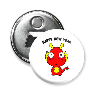 Магнит-открывашка Новогодний дракончик