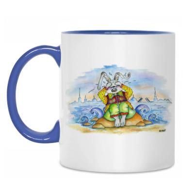 Кружка Кролик плачет на берегу Невы