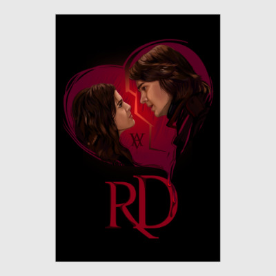 Постер Rose Hathaway & Dimitri Belikov. Vampire Academy