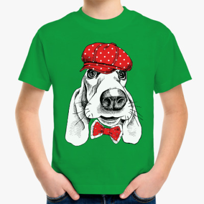 Детская футболка Бассет-хаунд