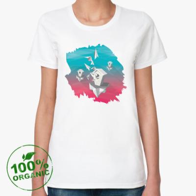 Женская футболка из органик-хлопка Скворечники