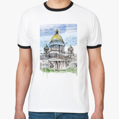 Футболка Ringer-T Исаакиевский собор