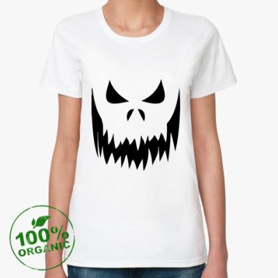 Женская футболка из органик-хлопка омби/Привидение