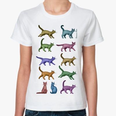 Классическая футболка Кошки