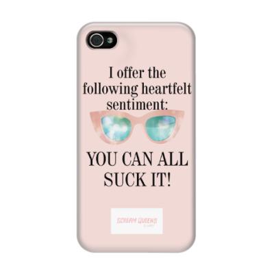 Чехол для iPhone 4/4s Channel#1 quotes. Scream Queens