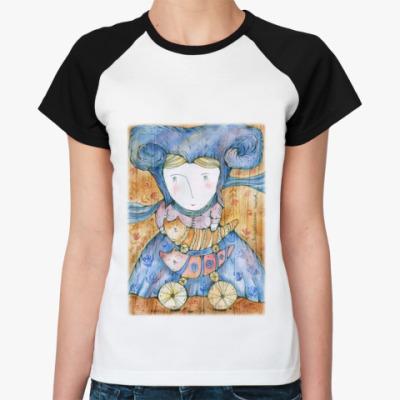 Женская футболка реглан Волшебница Котов