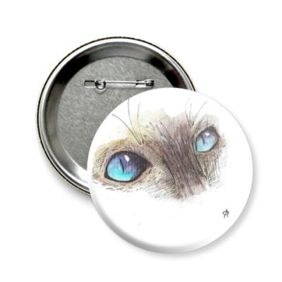 Значок 58мм Глаза кота