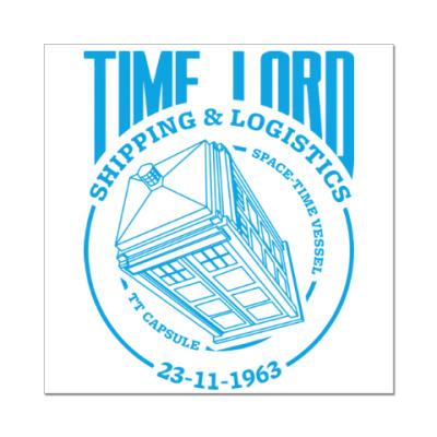 Наклейка (стикер) Time Lord