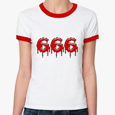 Женская футболка Ringer-T 666