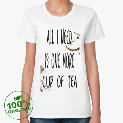 Женская футболка из органик-хлопка Чашка чая