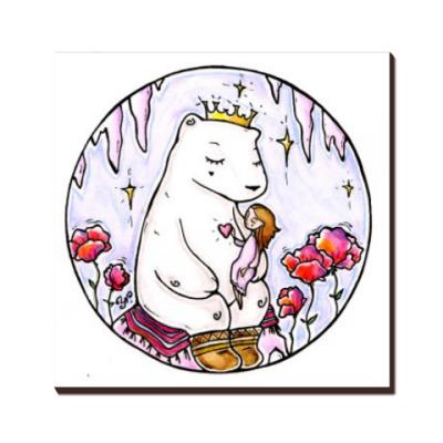 Полярный медведь и девочка