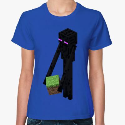 Женская футболка Enderman Moving Co