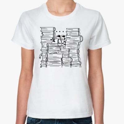 Классическая футболка Гарфилд в книгах