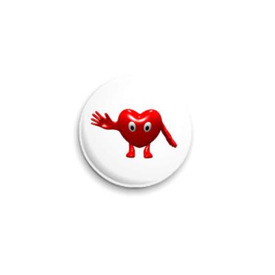 Значок 25мм Сердце
