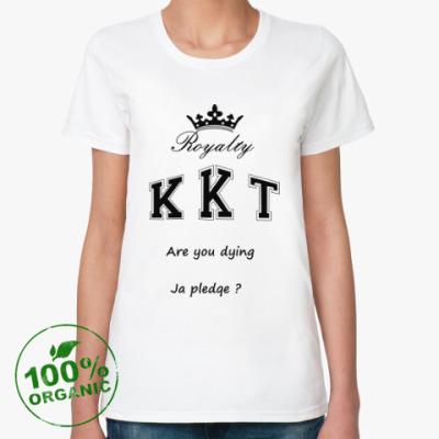 Женская футболка из органик-хлопка Королевы крика