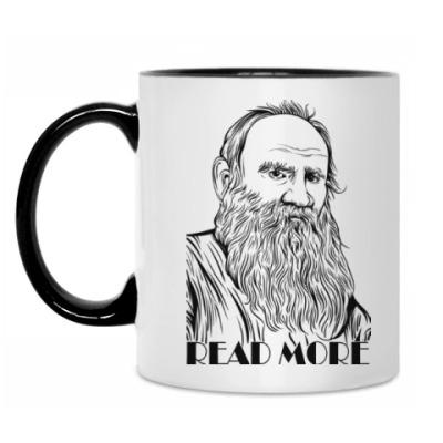 Кружка  Толстой 'Read More'