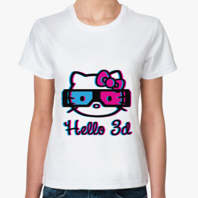 Классическая футболка Hello 3d
