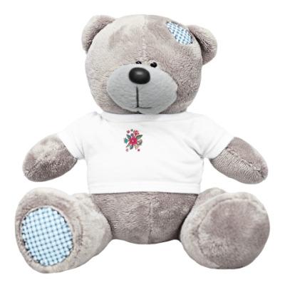 Плюшевый мишка Тедди Цветы