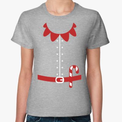 Женская футболка  Новогодний Эльф